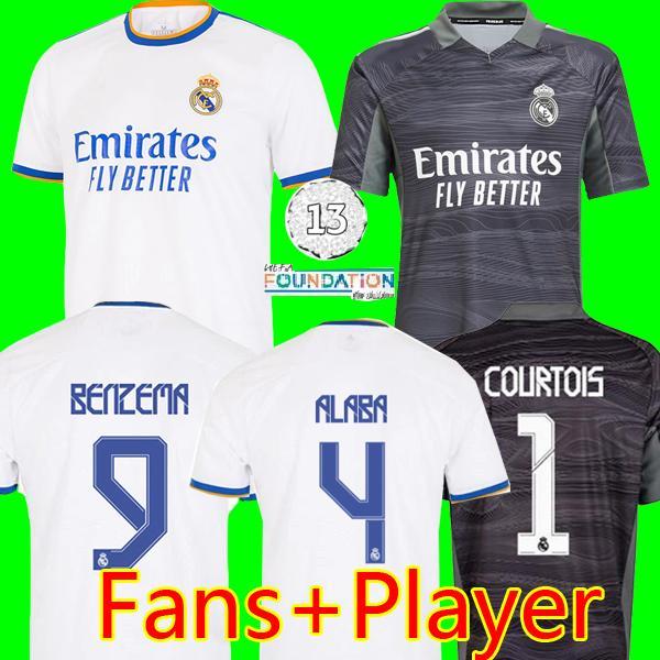 Camisetas De Futbumn Benzema Alaba Casemiro Soccer Jerseys Real Madrid Courtois 2021 21 22 Asensio Madric Marcelo Top Football Shirt Men Kids Kit Home
