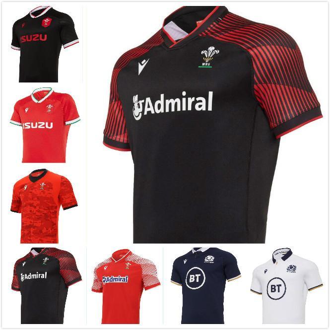 En İyi Kalite 2021 Galler İskoçya Eve Uzakta Rugby Formalar 19 20 21 Ulusal Rugby League Dünya Kupası Galler İskoç Rugby Gömlek Boyutu: S-5XL