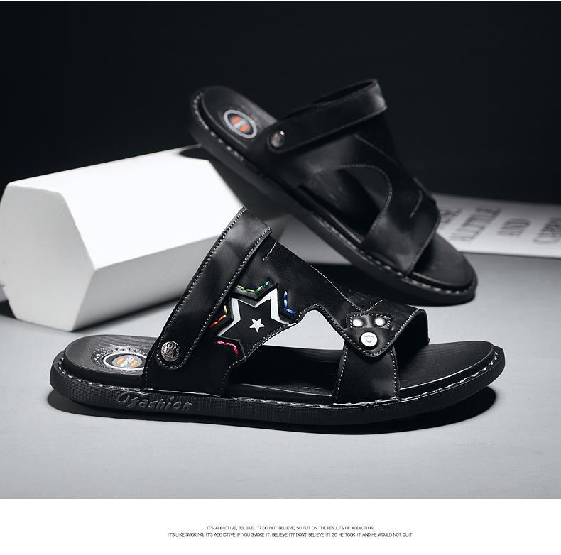 مازو الصنادل الصيف مشبك مخيط أسود رمادي الحجم 39-44