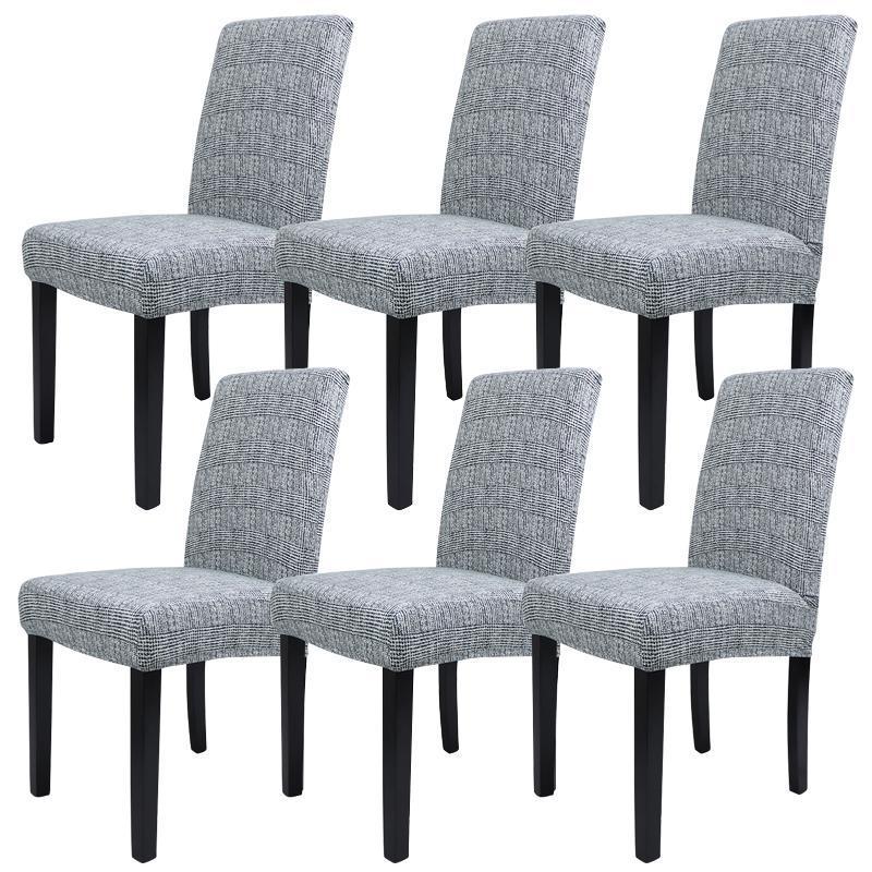 Sandalye 6 adet / takım Restoran Koruyucu Kullanımlık El Yemek Odası Toz Geçirmez Ofis Streç Çıkarılabilir Ziyafet Slipcover Evrensel Kapakları