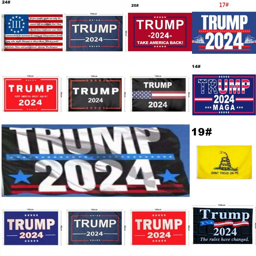 44 نمط ترامب العلم 2024 العلم الانتخابات راية دونالد ترامب العلم إبقاء أمريكا عظيم مرة أخرى إيفانكا ترامب أعلام 150 * 90 سنتيمتر