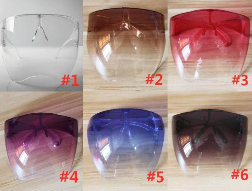 Borrar máscaras de la cara protectora Escudo Gafas de sol Gafas Seguridad Empresa impermeable Glasas Anti-Spray Máscara Protectora Gafas Gafas DHL Envío FY8334