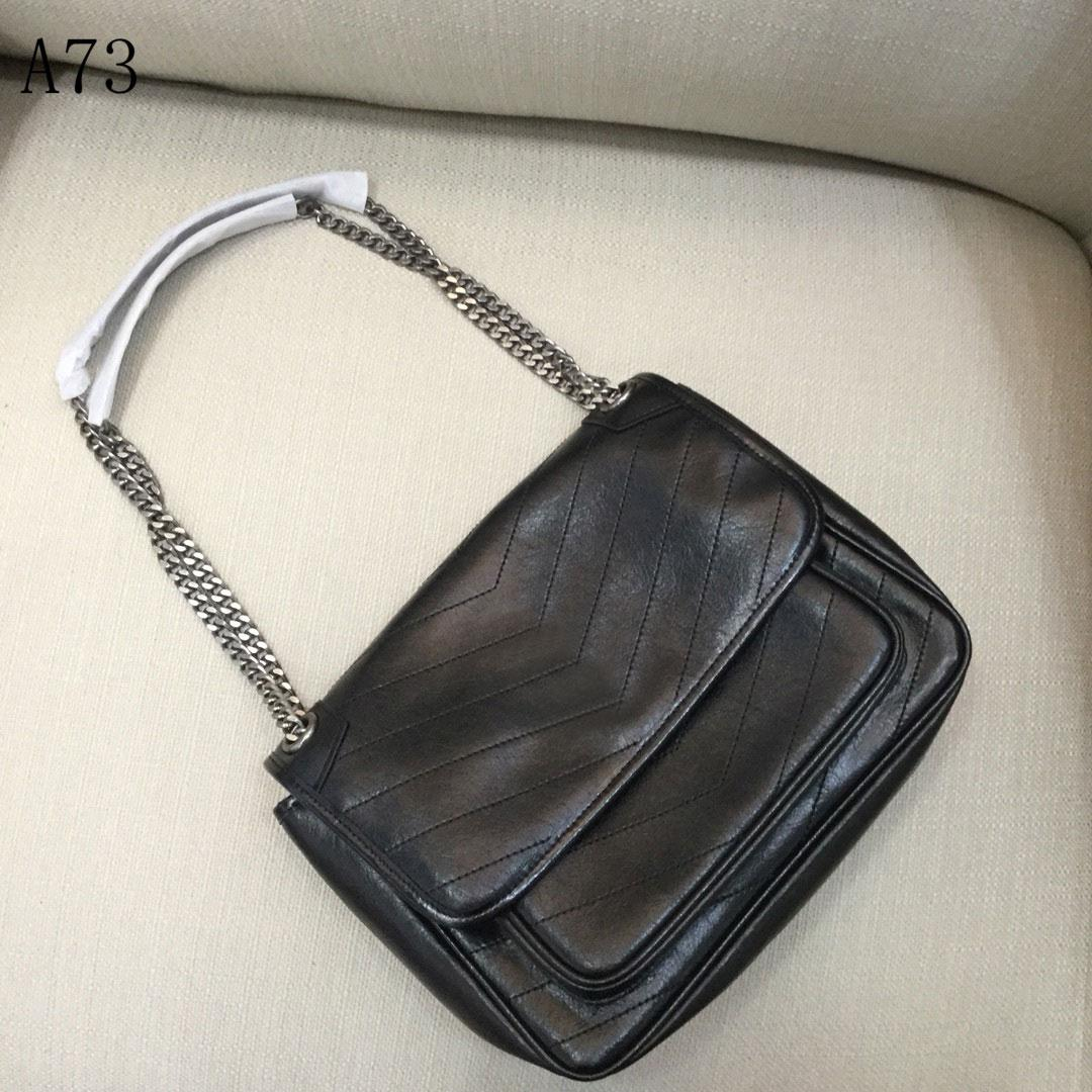 Top Quality designer women Luxury handbags bags Genuine Leather stripe square Metal chain womens handbag large capacity Buckles Fashion shoulder bag 2195-2196