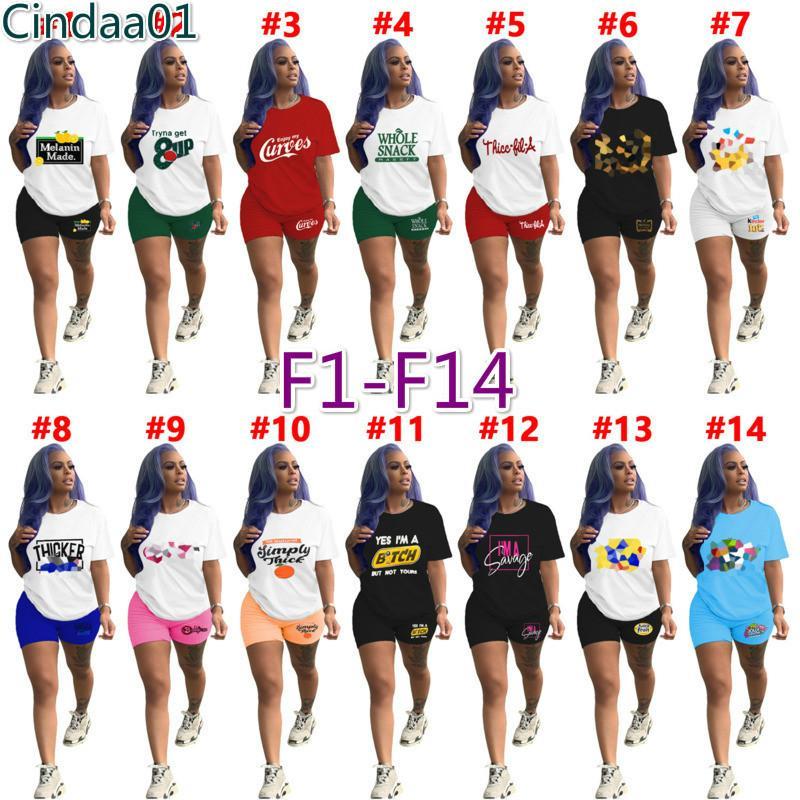 여성 두 조각 바지 Tracksuits 디자이너 캐주얼 짧은 소매 복장 단색 편지 인쇄 반바지 조깅 정장 Sportwear 7 스타일