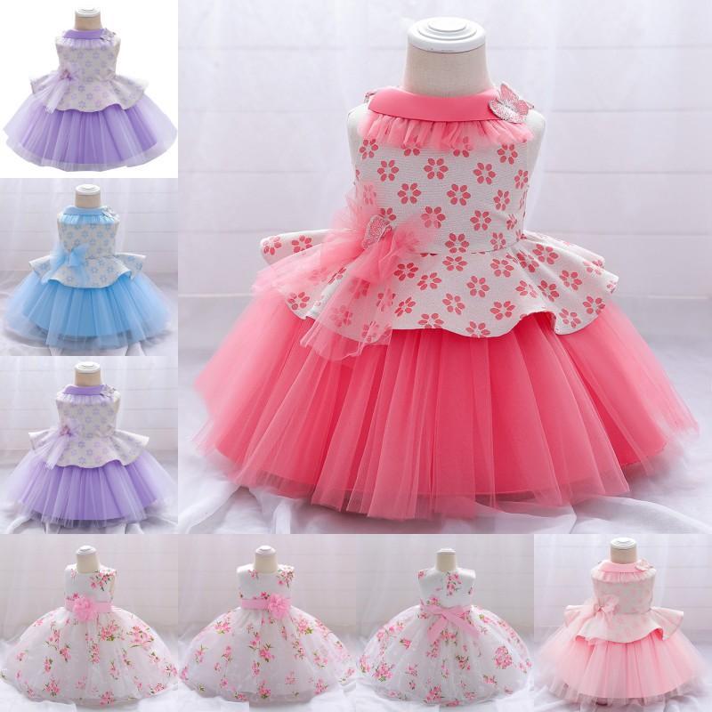 Yaz Kelebek Elbise Için Bebek Kız Vaftiz Elbisesi İlk Doğum Günü Partisi Giyim Yürüyor Giysileri Bebek Vestido Kızın Elbiseleri 1876 Y2