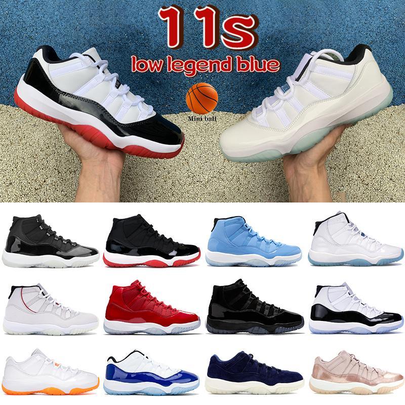 الرجال 11 11 ثانية أحذية كرة السلة الذكرى 25th الذكرى منخفضة بيضاء بلورك legend الجامعة الأزرق بانتون بارد رمادي رجل المرأة أحذية رياضية