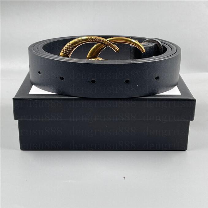 2021 Designer Designer Cinture da donna Cinture da uomo Moda Casual Business Metal Fibbia Cintura in pelle cintura per uomo Donna Larghezza cintura 3.4 cm con scatola