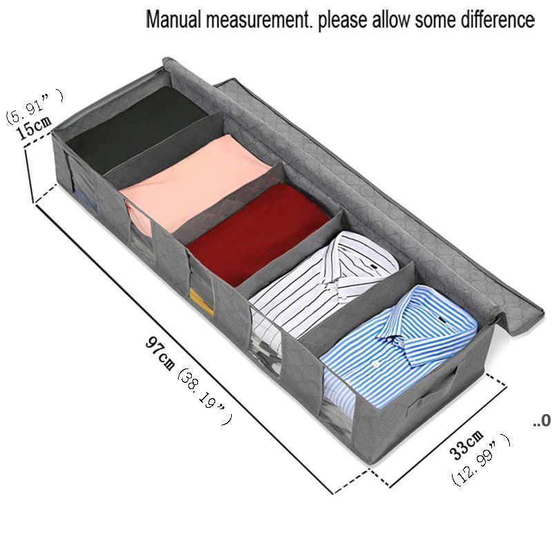 Vlies-Stoff-Bett-Bodenablagerung Bag Bins Kleiderschrank Kleidung Staubdichte Feuchtigkeitsdichte Finishing Faltende Quiltbeutel FWF9034