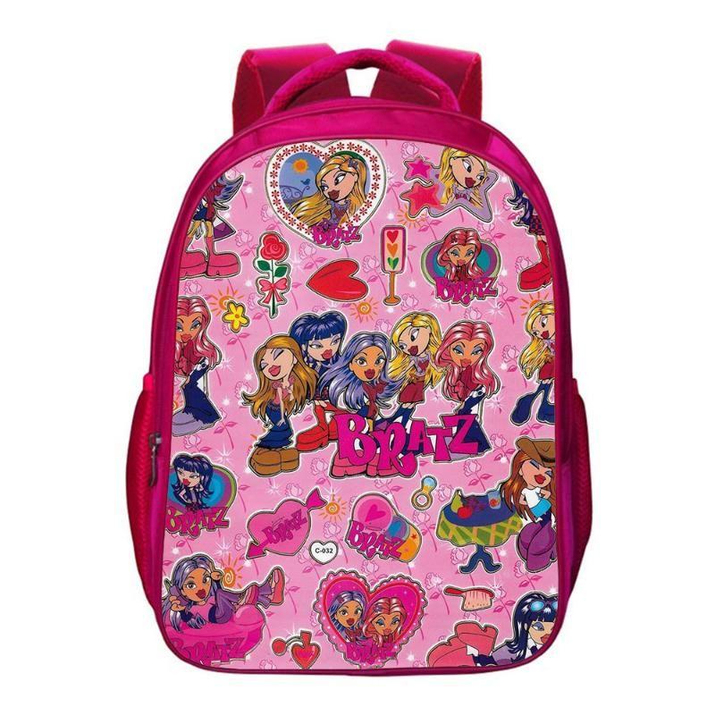 Mochila Bratz Mochila Boys Girl Escuela Bolsa Adolescentes Almacenamiento Bolsas de viaje Niños Mochila 16 Pulgadas