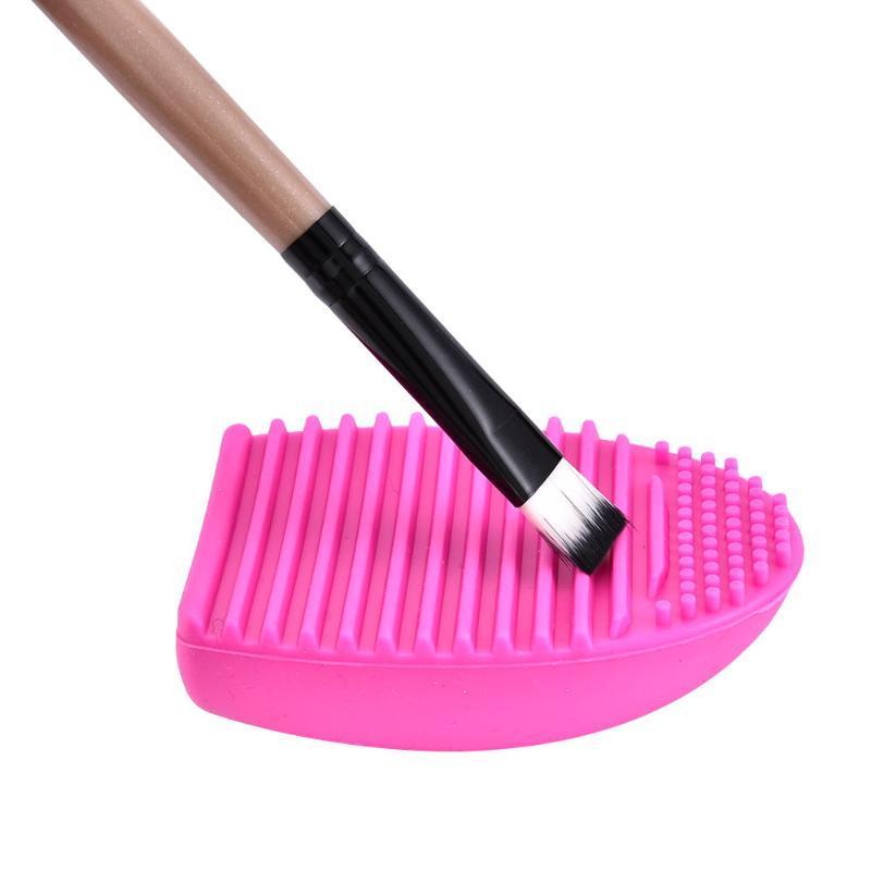 Pinceles de maquillaje Cepillo Lavado Herramienta Limpiador Silicona Pad Mat Cosmetic Eyebrow Scrubber Board Limpieza