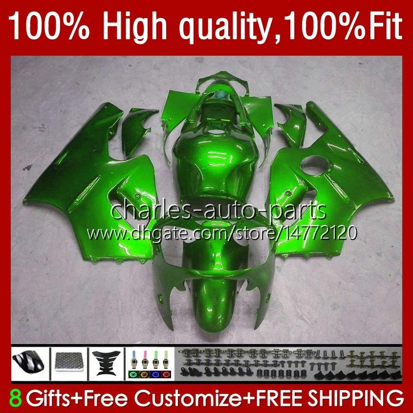 Body Injection For KAWASAKI NINJA ZX12R ZX1200C ZX 12R 1200 CC 2002-06 3No.57 ZX1200 ZX 12 R 1200CC 02 03 04 2005 2006 ZX-12R 2002 2003 2004 05 06 OEM Fairing glossy green