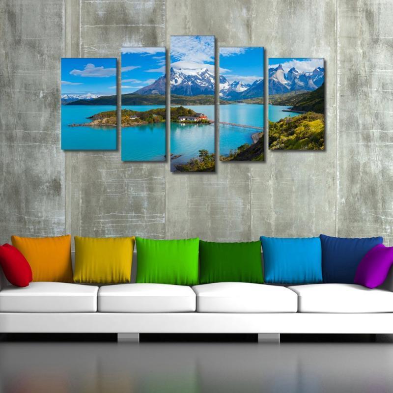 Paisagem e Seascape Picture Wall Art Canvas Impressões Torres del Paine National Park Poster Artwork Pintura Casa Decoração Dropship Pinturas
