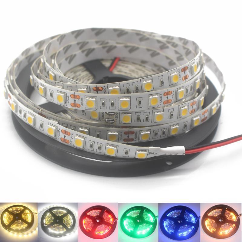 스트립 12V 24V SMD 60LEDS / M Lightstrip 5 M 12 V 24V LED 라이트 방수 램프 리본 TV 백라이트 스트립