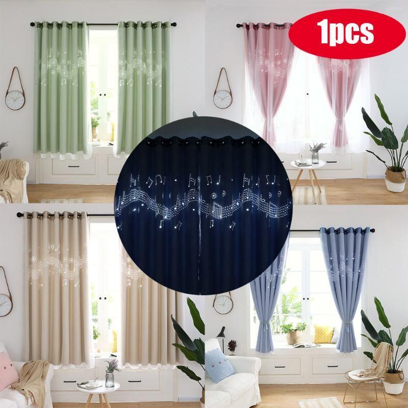 Curtain & Drapes Window Door 1PCS 200cm X 100cm Hollowing Out Drape Panel Sheer Scarf Valances #35