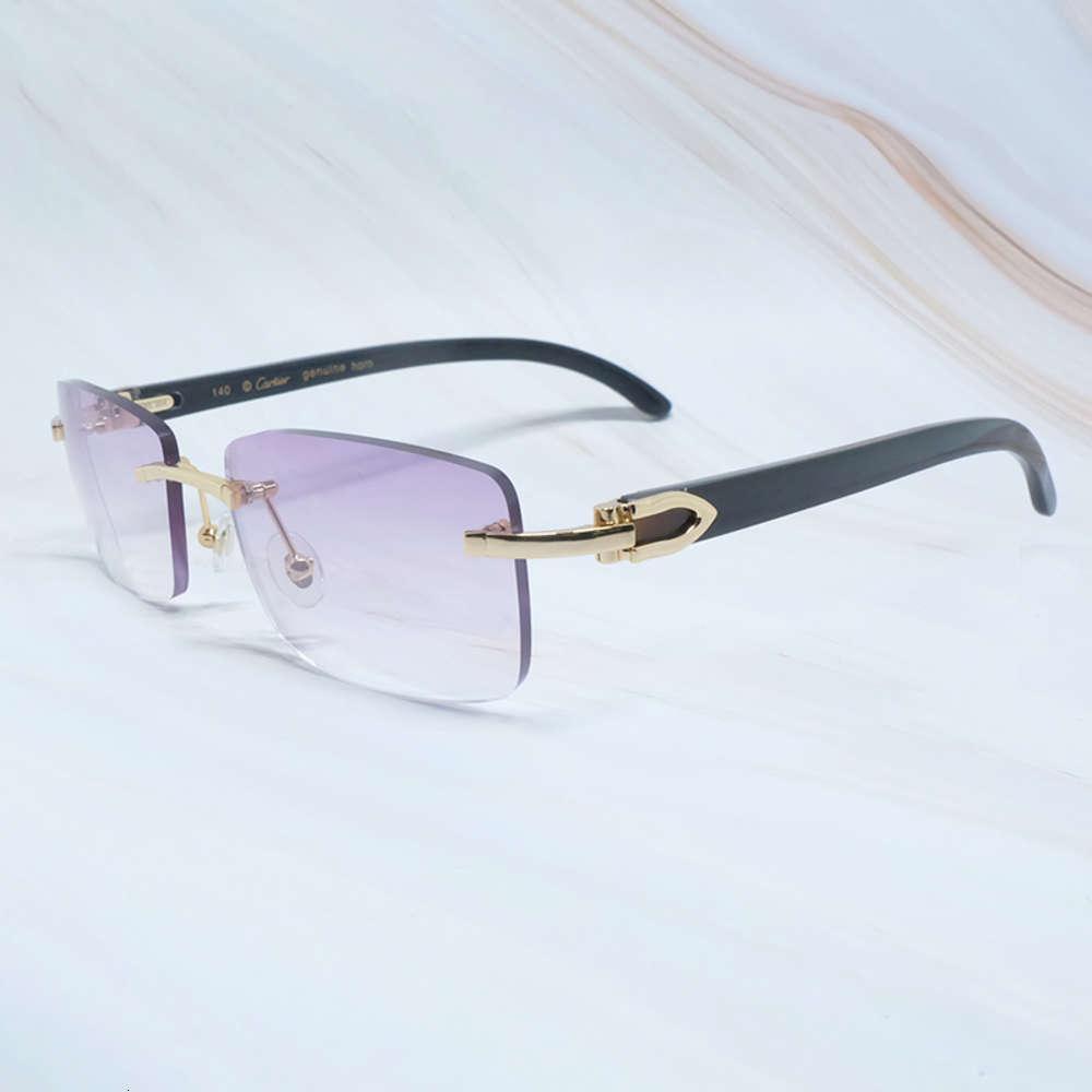 Luxo marca digner sunglass homens carter vidro de vidro frasco branco búfalo chifre sunglass moda fashion houten óculos