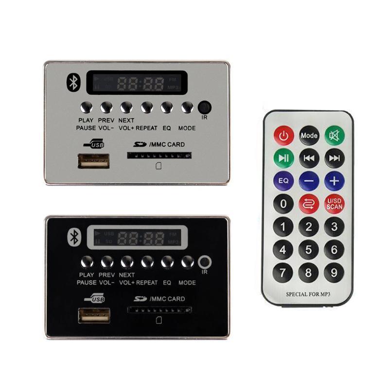Lettori MP4 5V-12V Automobile Auto Bluetooth MP3 WMA FM Aux Decoder Board Modulo Audio Modulo audio TF SD scheda SD USB ACCESSORI ACCESSORI