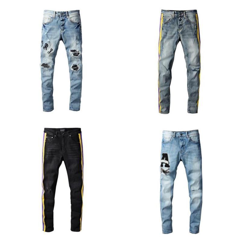 Erkek Kot Klasik Hip Hop Pantolon Stilist Sıkıntılı Yırtık Biker Jean Pantolon Slim Fit Motosiklet Denim Çoklu Seçenek Daha fazla ayrıntı için bana ulaşın SHHHH