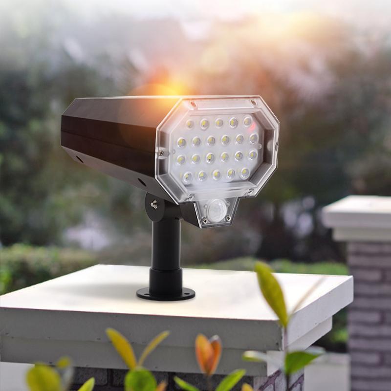 방수 태양 광 햇빛 전원 정원 잔디 램프 가로등 LED 야외 PIR 모션 센서 벽 램프