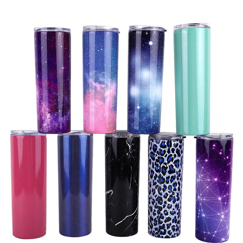650 ملليلتر كأس بهلوان الفولاذ المقاوم للصدأ فراغ معزول مستقيم القهوة القدح في الهواء الطلق زجاجات المياه المحمولة زجاجات المياه