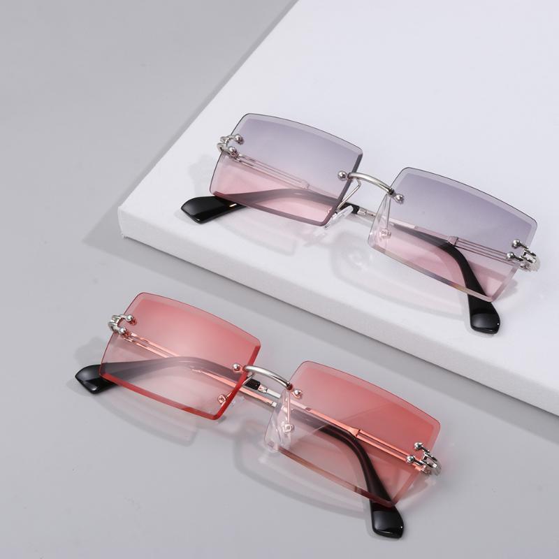 في الهواء الطلق النظارات الصيف الدراجات التدرج أزياء مستطيل بدون شلال العصرية نظارات الشمس ظلال uv400 شاطئ السفر مربع ل