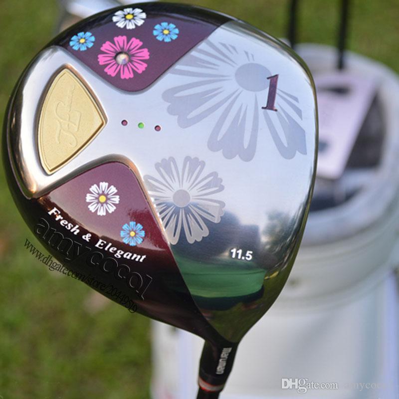 Neue Sets Golf Clubs Golf Kostenlose Clubs und FL DRIVE Holzeisen Butter Versand L Graphit Frauen Welle Komplette Tasche Maruman Upqsb
