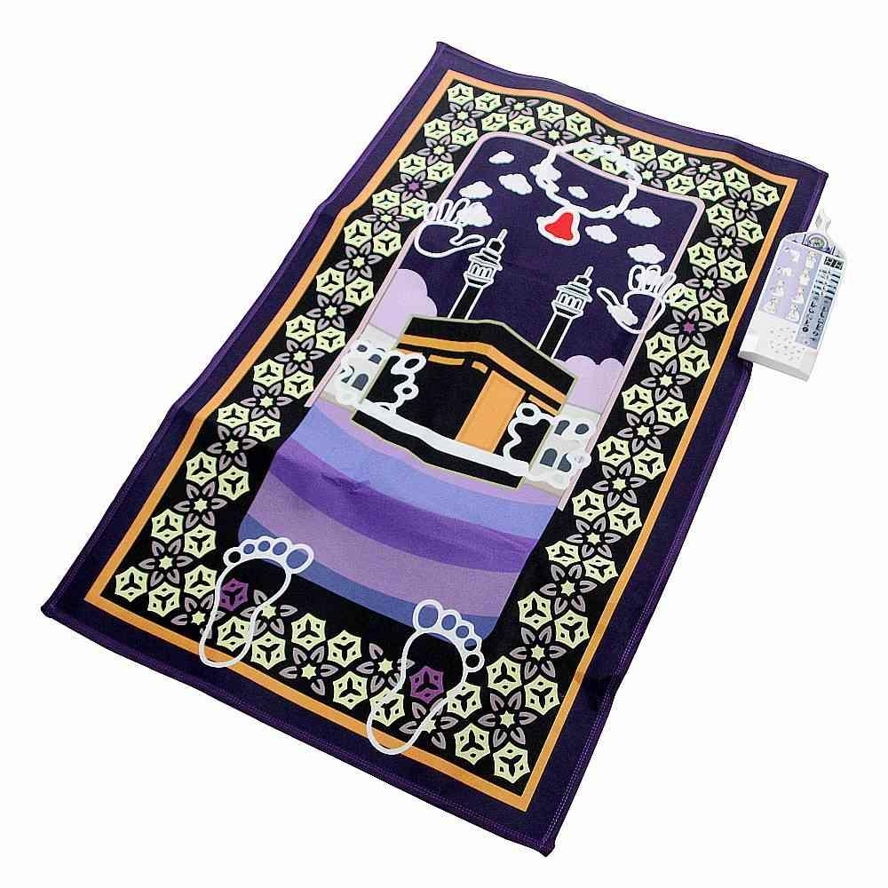 VIP электронный интерактивный исламский мусульманский молитвенный коврик коврик поклонение салат Мусаллу Сайда Тапис де Прибере ислам молится коврики ковров 210330