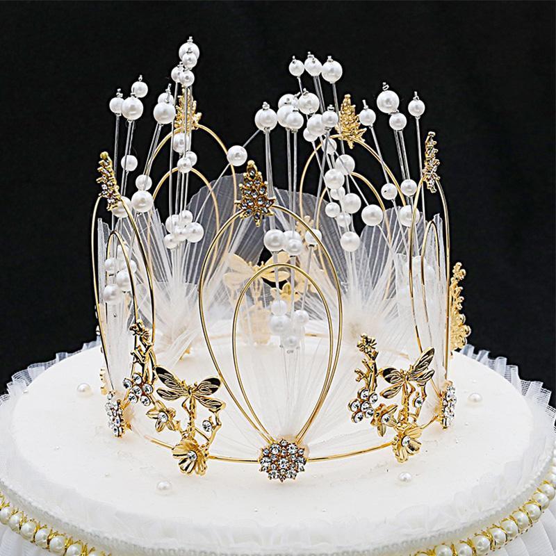 Andere Event Partei liefert Nettogarn Runde Kuchen Dekoration Crown Valentinstag Jubiläum Geburtstag