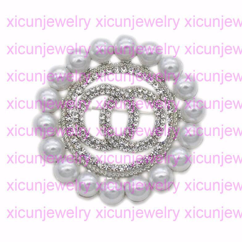 مفتوح كما c أزياء مصمم إلكتروني دبابيس للنساء بيرل بروش سيدة كريستال دبابيس الماس مجوهرات هدية قناة