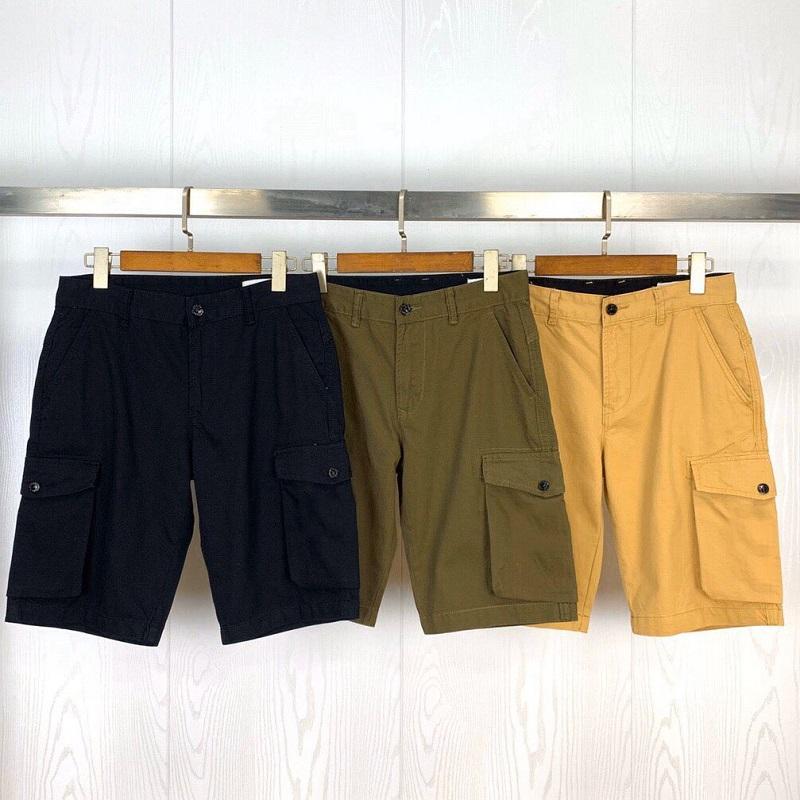 Summer Hommes Shorts Joggers Pantalon Mâle Designer Pantalons Solid Noir Bleu Coton Matériaux M-L-2XL # 611 Style de mode