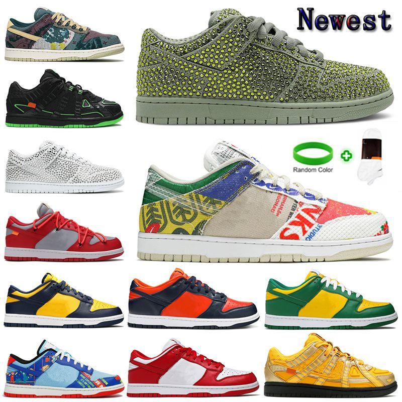 [팔찌 + 양말 + 원래 상자] Cactus Plant Flea Market x Nike Dunk Low shoes CPFM 정통 덩크 캐주얼 신발 선인장 식물 벼룩 시장 신발 낮은 순수한 백금 나선형 현자 SB 남성 여성 프로 Qs 스포츠 야외 스니커즈