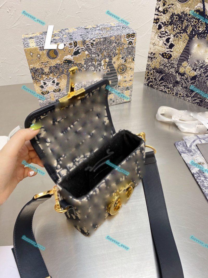 Dior MADRE CLÁSICA Señoras Caviar de alta calidad Caviar Cambio de Cambio de Lujo Muchacha Temperamento Casual One-Shoulder Messenger Bolsa Inicial