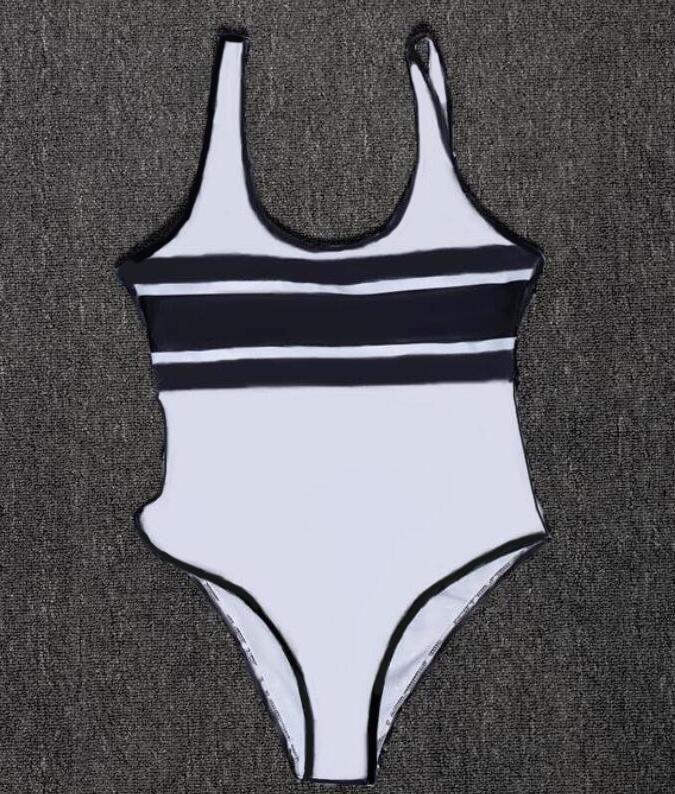 Diseñador de mujer Bikini Sexy Beach Bikinis Verano Una sola pieza Traje de baño Moda Carta de moda Mujeres Traje de baño 4 colores de alta calidad