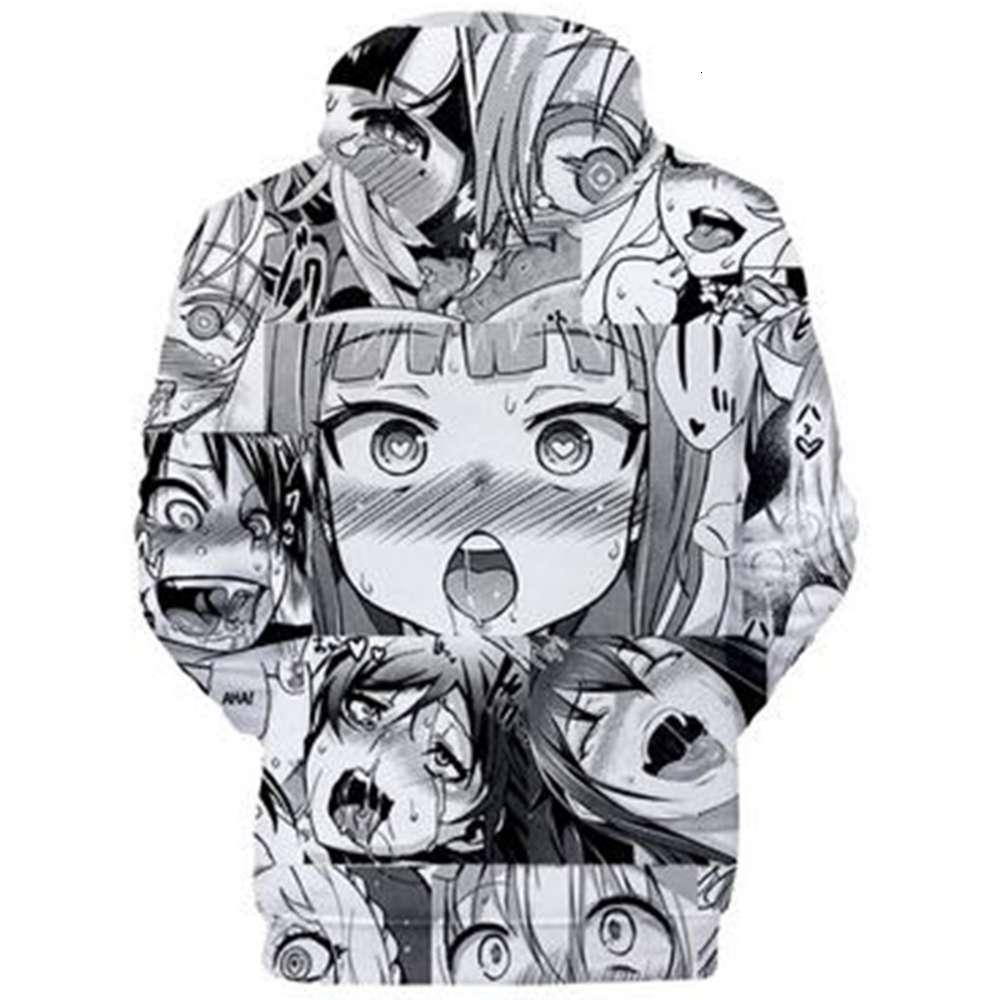 Anime Hoodie Ahegao Kawaii Hentai 3D Hooded Sweater Men/Women Random Hoodies Clothing