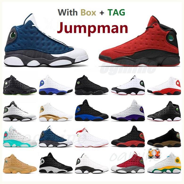 air jordan jordans aj13 13s jordon Jumpman 13 ans hommes chaussures de basket-ball inverse il casquette de jeu et la noire île noire joie cuialue violette carmelo anthony baskets