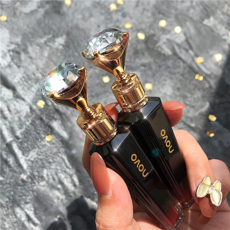LIQUIDE LIQUIDE DE LIQUIDE DE LIQUIDE DE LIQUIDE DIAMANT Forme Cristal Lip Gloss Clear Miroir Verre Lipgloss Hydratize Maquillales de teinte Shimmer