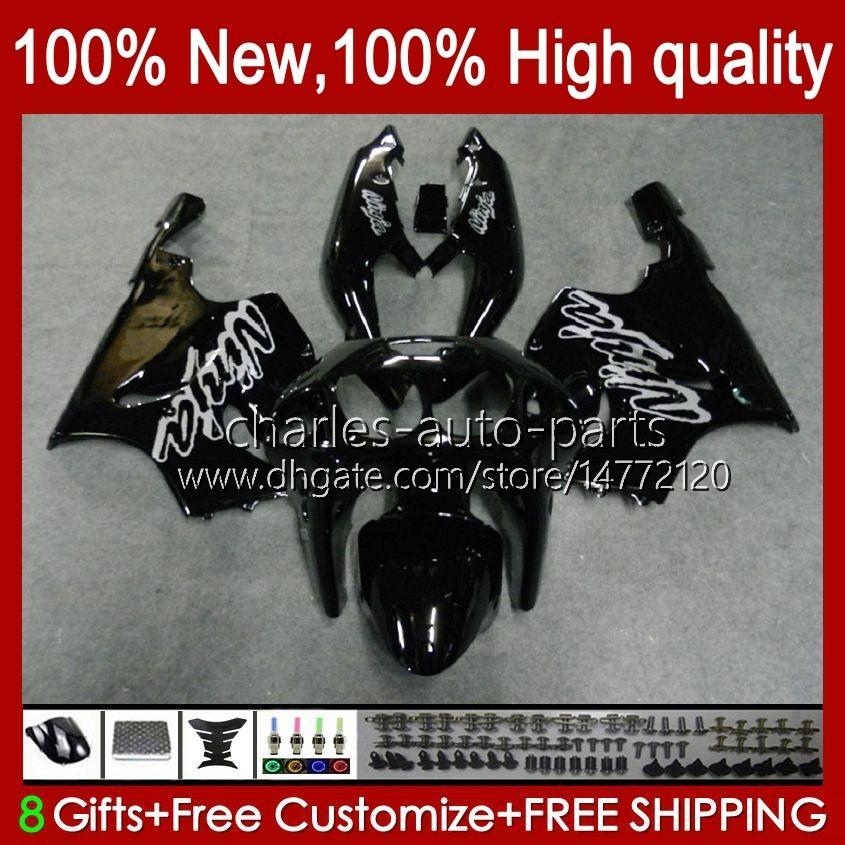 Bodywork Body for Kawasaki Ninja ZX-750 ZX7R ZX750 Factory Black ZX 7 R 96 97 98 99 2000 2001 2002 2003 28HC.24 ZX 7R ZX 750 ZX-7R 1996 1997 1998 1999 00 01 03 03 OEM Fairing