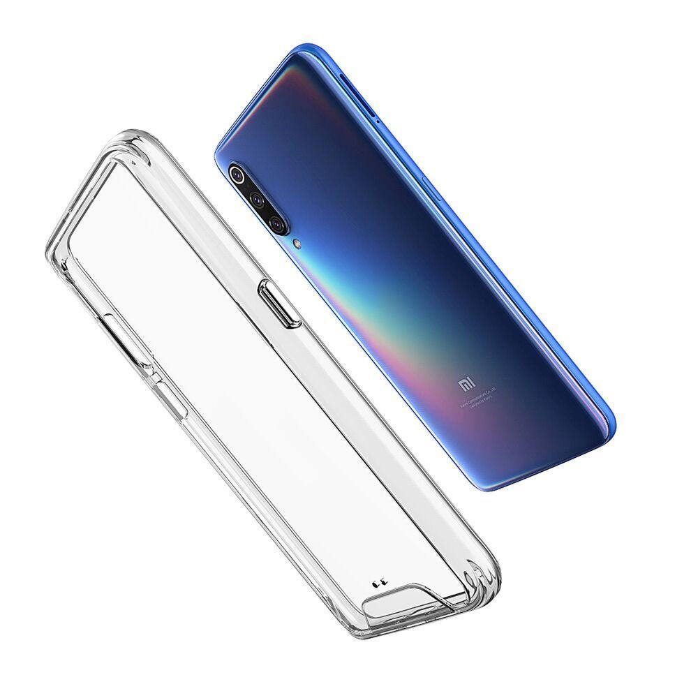 Casos de caso claro transparente para Xiaomi Mi A2 Redmi 9 9C 9A Nota 10 Lite Pro Max Go Poco C3 F1 Armadura Slim Capa