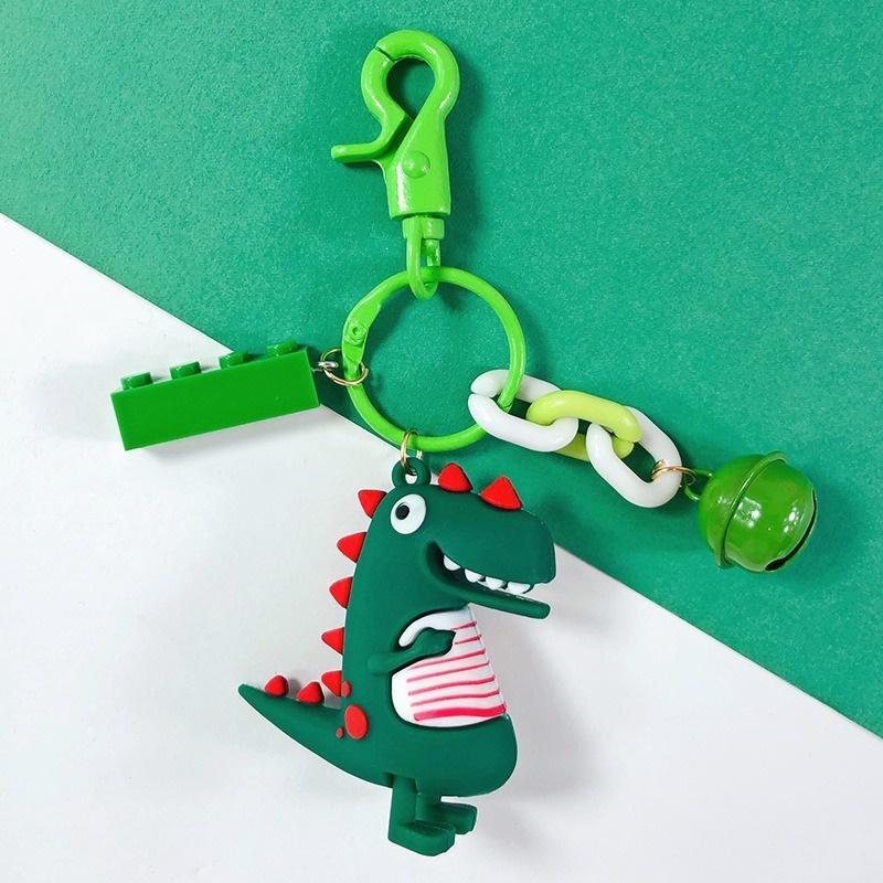 الإبداعية لطيف الكرتون الغراء إسقاط ديناصور diy سيارة معدنية مفتاح حلقة الإناث أكياس قلادة اكسسوارات
