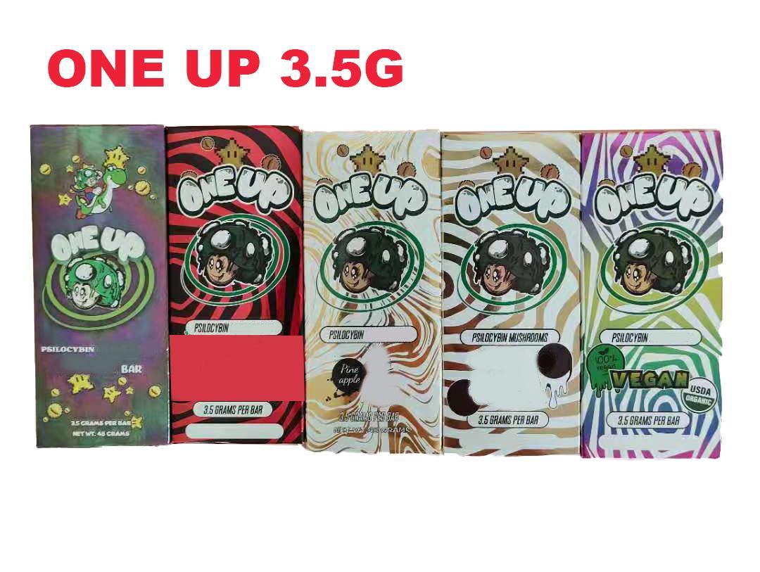 One UP Box Box Bags 3.5G Bloqueo de cremallera al por menor Bolsa de plástico impermeable a prueba de niños para la hierba seca Flor de tabaco Vape Vape Bolsos FedEx
