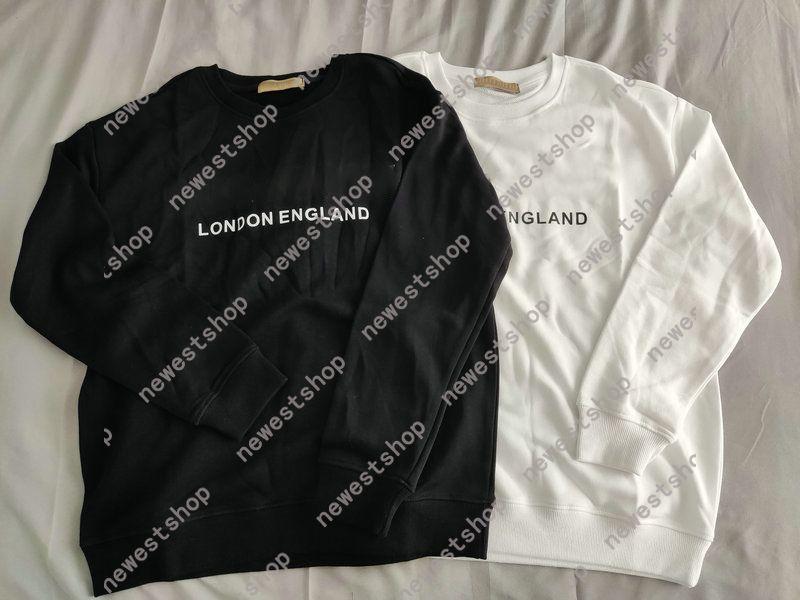 Winter Europa London England Designer Luxus für Herren Classic Brief Print Hoodies Mode Sweatshirt Womens Casual Pullover Jumper