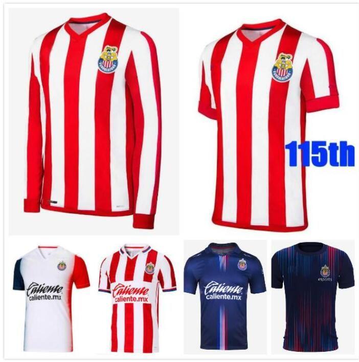 Rétro 110ème 115 Année 2021 2022 Chivas Soccer Jerseys Aniversario 21 22 Deportivo Guadalajara E.Lopez 115ème chemise de football à manches longues