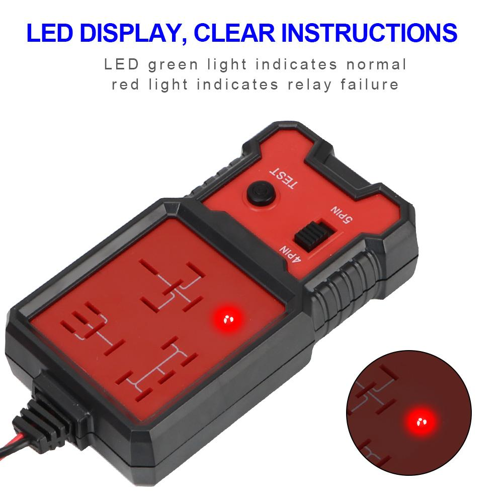 Car Battery Checker Car Relay Tester LED Indicator Light Universal 12V Voltage Tester Car Automotive Electronic Relay Tester