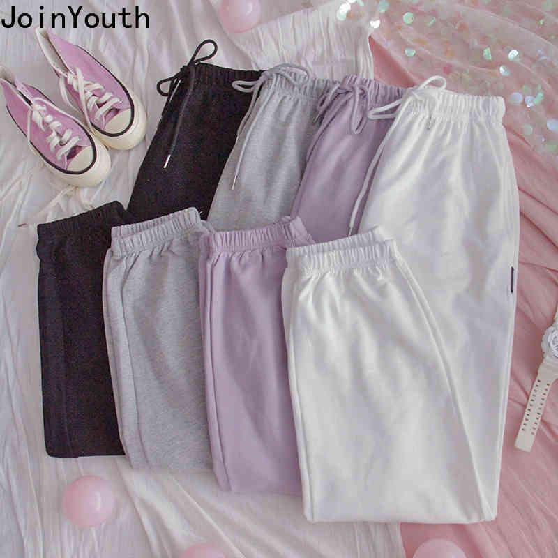 Joinyouth Streetwear Donne Donne Solid Solid Sweatspants a vita alta Straight Joggers Pantaloni Ropa Mujer Hip-hop Pantaloni casual 7B198 210423