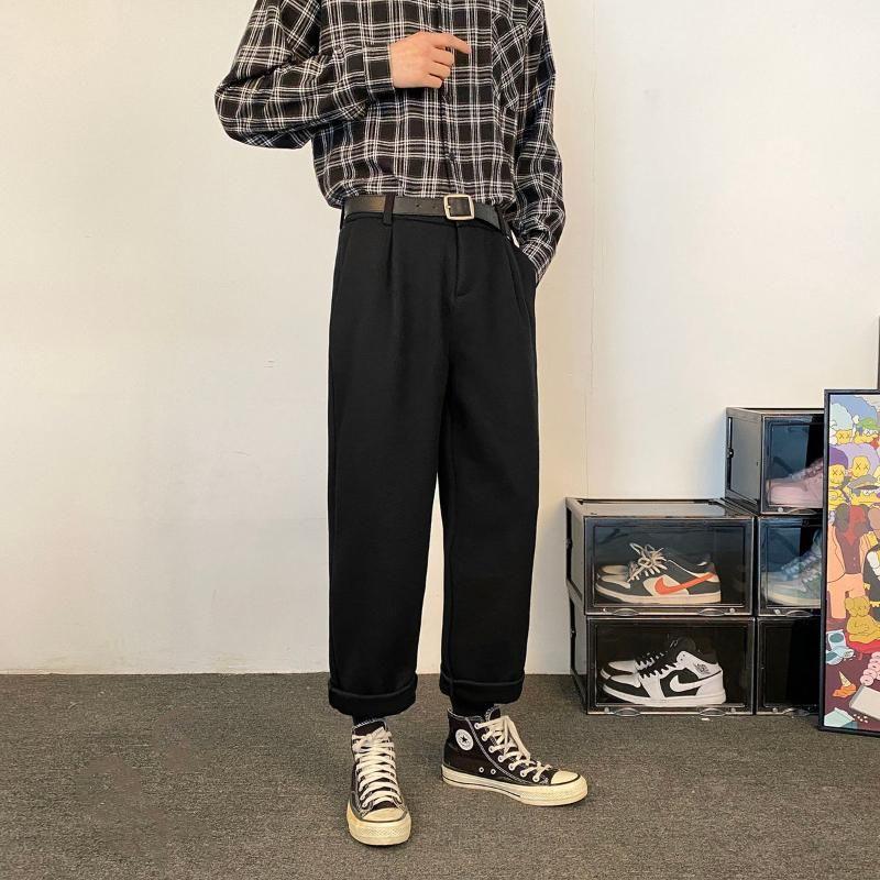 겨울 남성용 코튼화물 바지 캐주얼 바지 Streetwear 따뜻한 모직 패션 트렌드 고품질 바지 M-2XL