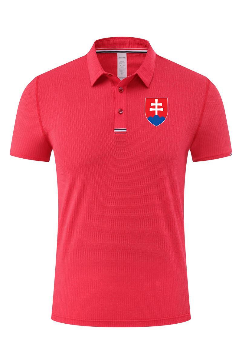 سلوفاكيا الرجال بولو الصيف تصميم الأزياء الناعمة مريحة سريعة جافة الكبار لكرة القدم تي شيرت ملابس رياضية قصيرة