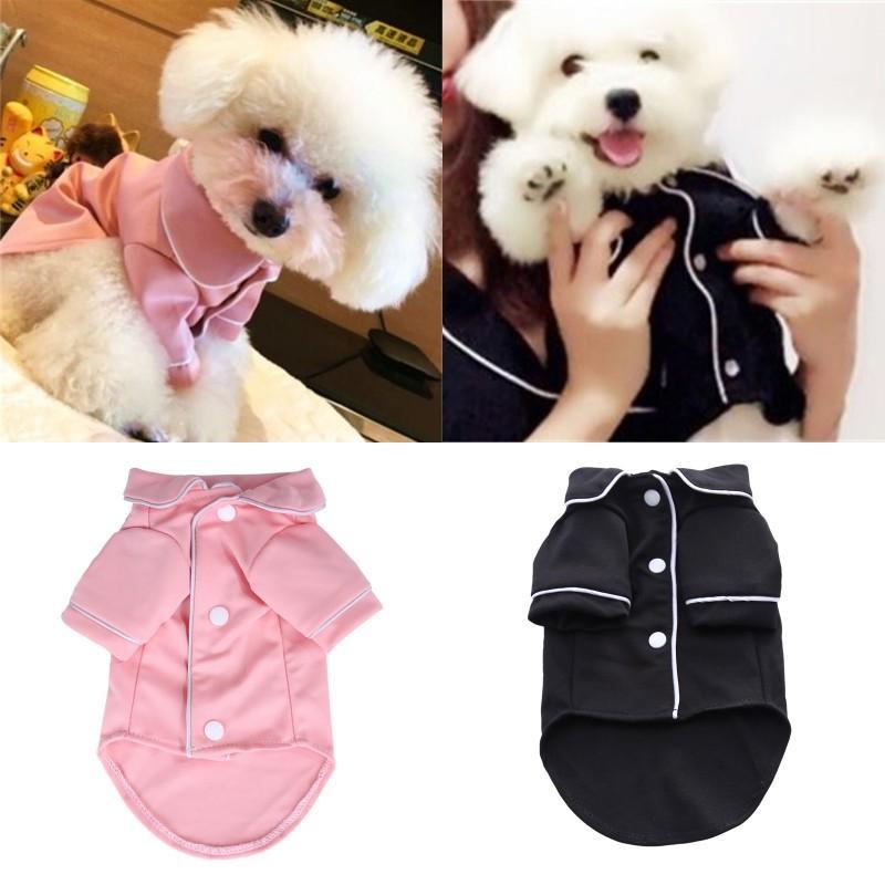 Small Dog Apparel Coat Pet Puppy Pajamas Black Pink Girls Poodle Bichon Teddy Clothes Cotton Boy Bulldog Softfeeling Shirts Winter 528 S2