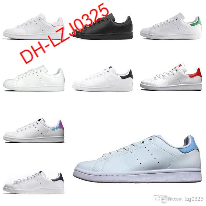 Botas Clásicos Clásicos STAN SMITH mujeres zapatillas planas verde blanco azul marino azul arco iris moda entrenador para hombre zapatos deportivos al aire libre 36-44 DH-X66
