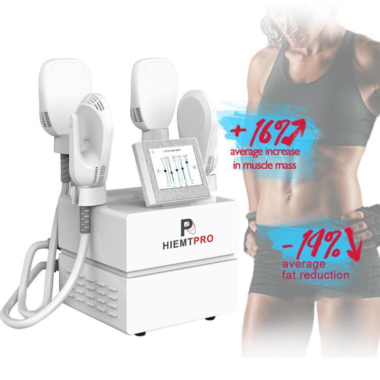 اللياقة البدنية بناء العضلات المحمولة HIEMT آلة التخسيس عالية الكثافة الجسم النحت الكهربائية مشجعا العضلات Hiemtpro أجهزة الجمال