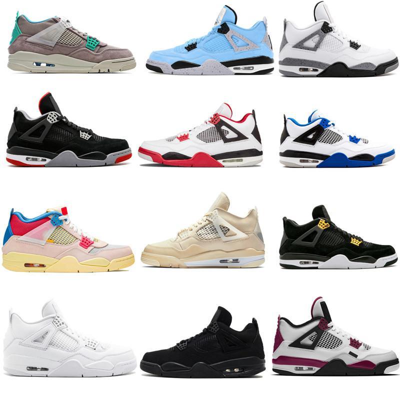 AJ 4 Air Retro Jumpman 디자이너 스포츠 신발 4 개 여성 남성 농구 신발 4S 새로운 Jumpman 운동화 크기 13 검은 고양이 파이어 레드 사육 IV 선인장 잭 트레이너