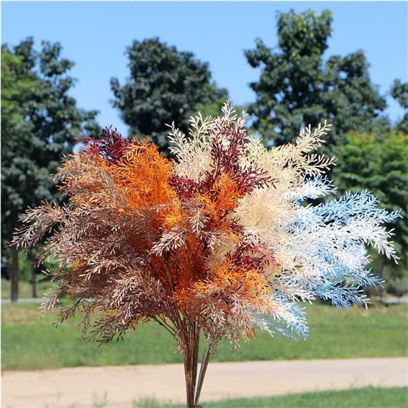"10pcs 가짜 긴 줄기 가을 초원 잔디 40.16 ""웨딩 홈 장식 artifici에 대 한 길이 시뮬레이션 plasric 녹지"